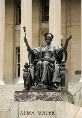 Statue of Alma Mater at Columbia University, New York photo