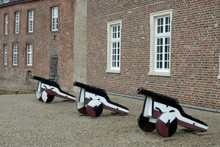 gunnery: Old cannons at castle in Germany