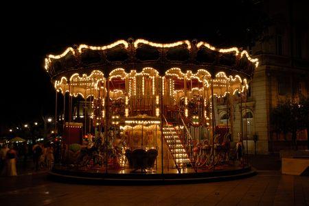 merry go round: Carousel at night