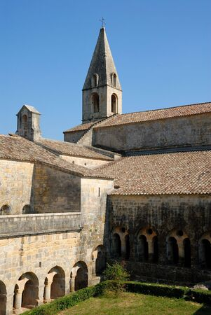 cistercian: Medieval Cistercian cloister in southern France