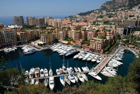 monaco: Marina in Monte Carlo, Monaco Stock Photo
