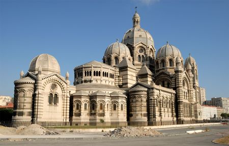 major: Marseille Cathedral, southern France Stock Photo