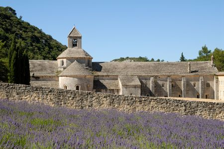 cistercian: Senanque Abbey in the Provence, southern France Stock Photo