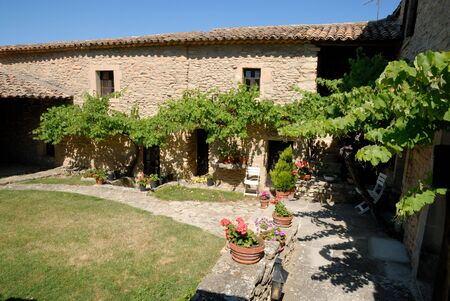 Courtyard of a rural  in the Provence, France photo