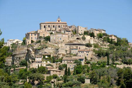 gordes: Medieval town Gordes in southern France Stock Photo