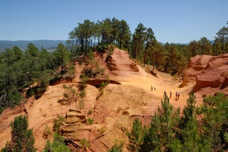 roussillon: Former ochre quarry in Roussillon, France