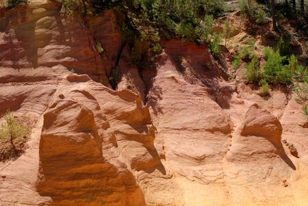 roussillon: Ochre in Roussillon, Provence France Stock Photo