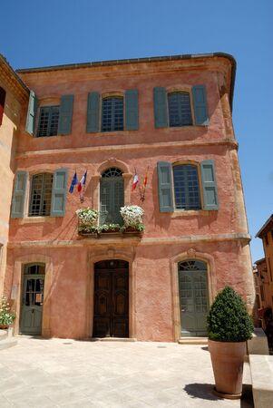 roussillon: Hotel de Ville in Roussillon, southern France Stock Photo