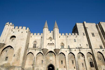 ufortyfikować: Papież pałacu w Avignon, Francja Zdjęcie Seryjne
