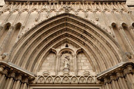 pi: Church Santa Maria del Pi in Barcelona Spain