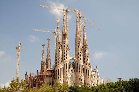 Famous landmark of Barcelona Antoni Gaudis Sagrada Familia, Spain. September 2008