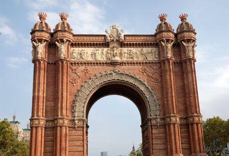 Triumphal arch (Arc de Triomf) in Barcelona, Spain photo
