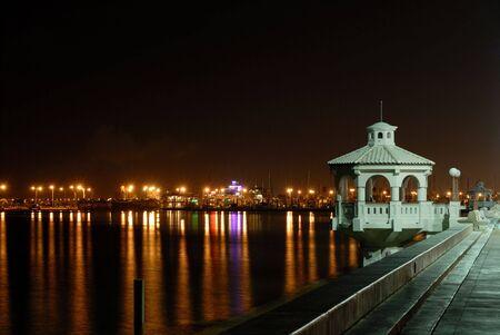 Promenade in Corpus Christi at night, southern Texas USA