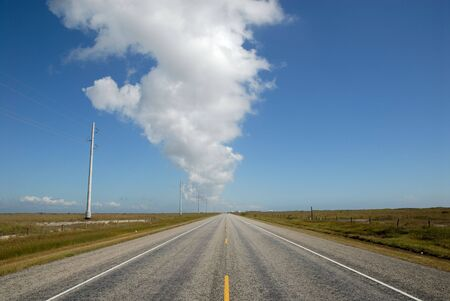 country highway: Country highway in the United States Stock Photo