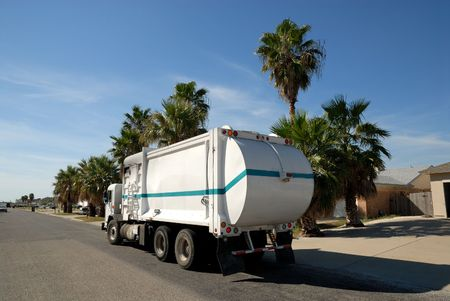 Garbage truck in the United States