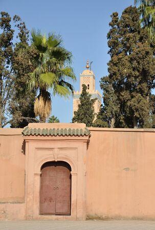 Koutoubia Mosque in Marrakech, Morocco photo