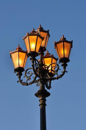 Ancient lantern at dusk, Marrakech, Morocco Stock Photo - 4022046