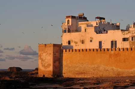 ramparts: Ramparts of Essaouria in the evening, Morocco Africa