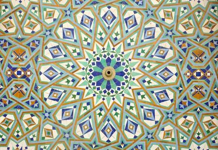 moroccan culture: Oriental mosaic in Casablanca, Morocco