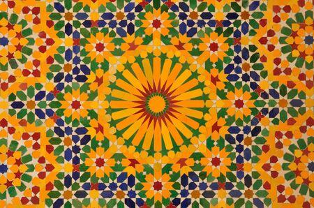 Oriental mosaic decoration in Casablanca, Morocco Stock Photo - 4072646