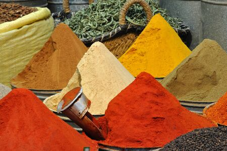 souk: Spices shop in the medina of Fes, Morocco