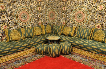 pouffe: Interior of an oriental decorated room