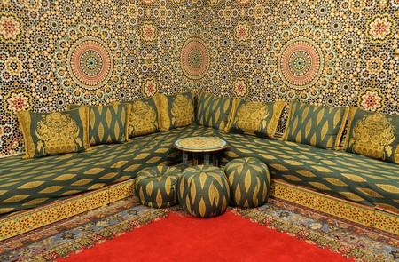 marocchini: Interno di una stanza decorata orientale Archivio Fotografico