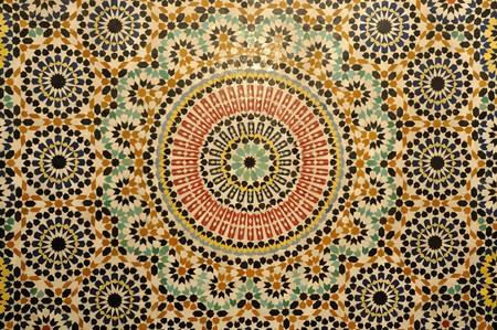 marocchini: Oriental decorazione a mosaico in Marocco Archivio Fotografico