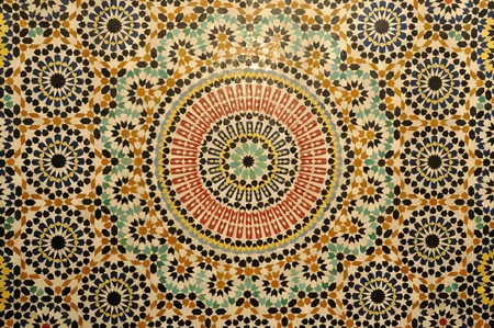 morocco: Oriental mosaic decoration in Morocco