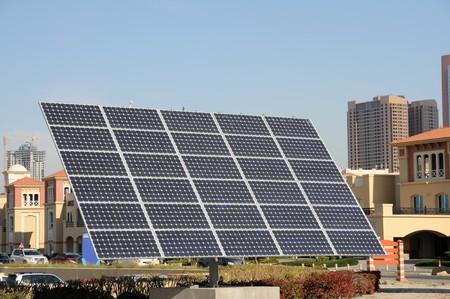 Solar Panel in the city of Dubai