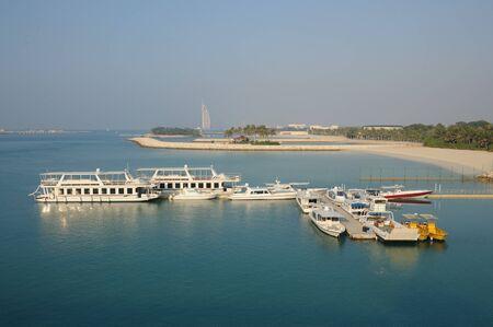 landing stage: Landing stage in Dubai, United Arab Emirates Stock Photo