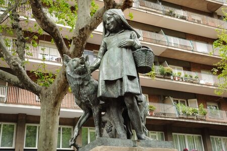 Statue of the Little Red Riding Hood  in Barcelona, Spain Stock Photo - 4764900
