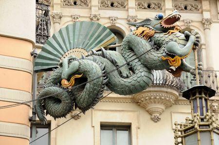 casa: Chinese Dragon at Casa Bruno Quadros in Barcelona, Spain