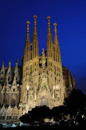barcelona spain: Sagrada Familia Cathedral in Barcelona, Spain