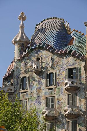 barcelona spain: Antoni Gaudis Casa Batllo in Barcelona, Spain