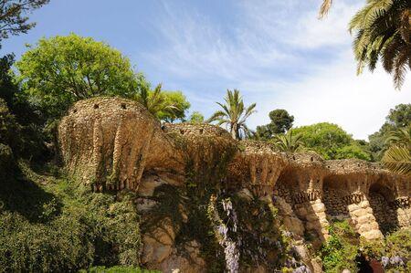 antoni: Antoni Gaudis Park G�ell in Barcelona Spain