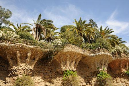 antoni: Antoni Gaudis Parc G�ell in Barcelona Spain