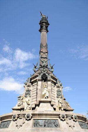 christopher columbus: Monument of Christopher Columbus at end of La Rambla, Barcelona, Spain Stock Photo