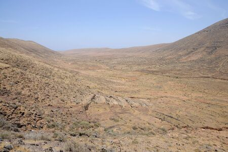 Volcanic Landscape on Canary Island Fuerteventura, Spain photo