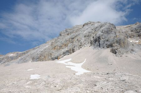zugspitze mountain: Summit of the Zugspitze Mountain, Alps Germany Stock Photo