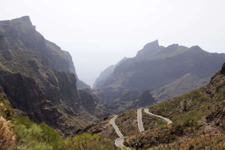 mountainscape: Teno Mountains on Canary Island Tenerife, Spain