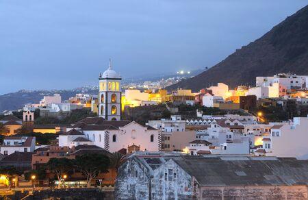 Town Garachico at dusk. Canary Island Tenerife, Spain Stock Photo - 5641041