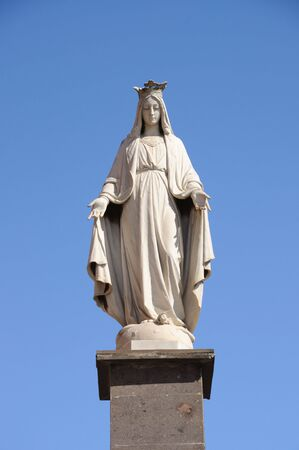 Statue of Santa Maria in La Laguna, Tenerife Spain photo