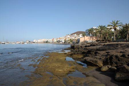 arona: Coast in Los Cristianos, Canary Island Tenerife, Spain