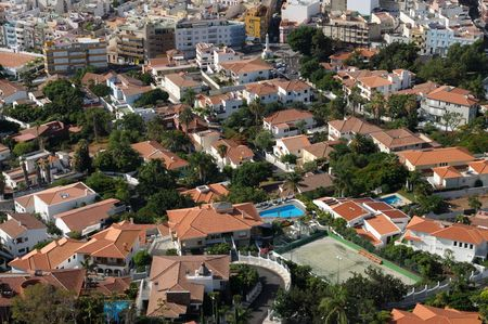 santa cruz de tenerife: Aerial view of Santa Cruz de Tenerife, Spain Stock Photo