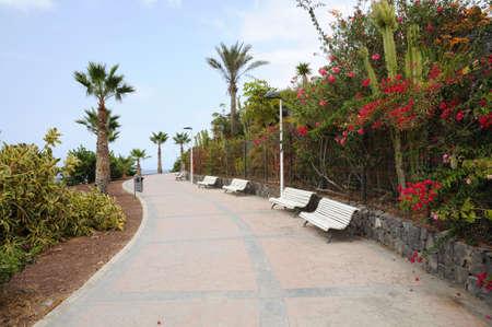 adeje: Promenade in Costa Adeje. Canary Island Tenerife, Spain Stock Photo