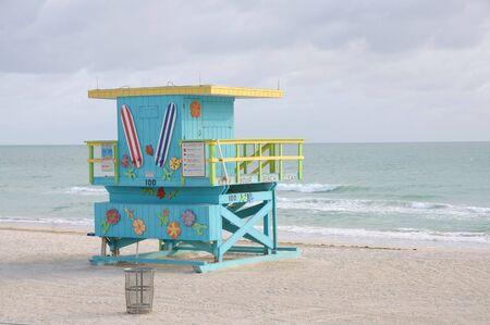 Miami South Beach Lifeguard Tower, Florida USA photo