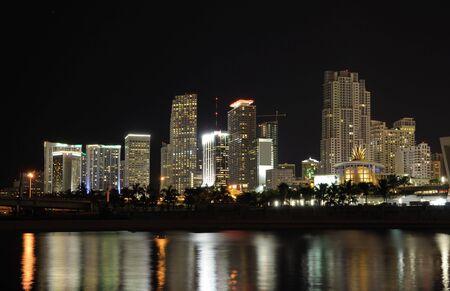 Downtown Miami at night, Florida USA photo