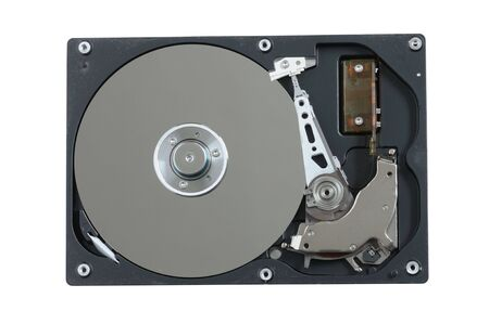 isoliert: Open Hard Drive isoliert over white background