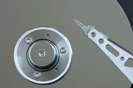 Closeup of an open hard disk drive  Stock Photo - 6061056